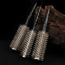 Hairdressing Pig Bristles Nylon Pig Bristles Blowing Straight Hair Pear Head Cylinder Rolling Comb Curly Hair Care Styling Comb