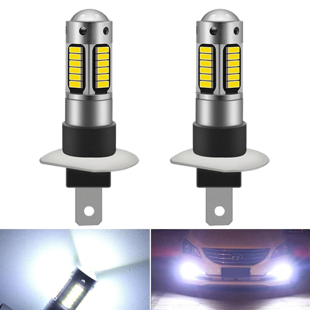 2X H1 H3 880 881 30smd 4014 CANBUS Автомобильный светодиодный светильник, противотуманный светильник для Peugeot 307 206 308 407 207 4008 Mazda 3 6 CX-5 323 5 2 CX5 6000k