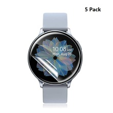 Soft Film for Samsung Galaxy Watch Active 2 44mm 40mm Screen Protector Max Coverage Cover For Galaxy Watch Active 2 Film 5Pack cheap CN(Origin) Scratch Proof Hydrogel Film SS136 SmartWatch Flexible Film for samsung galaxy watch active 2 40mm 5pcs film not include smart watch(band)