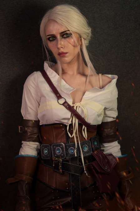 (In Stock) Ciri Cirilla Fiona Elen Cosplay Costume Full Set Halloween Costume Custom Made