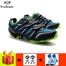 TIEBAO Professional Cycling Shoes women Mountain Bike Sneakers add cleatsMen Breathable Sapatilha MTB Athletic bicycle