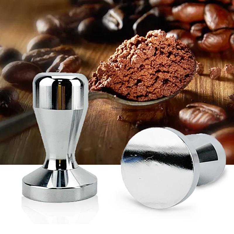 49mm 51mm 58mm Stainless Steel Coffee Tamper Home Calibrated Pressure Espresso Mat Coffee Hammer Espresso Powder Flat Press