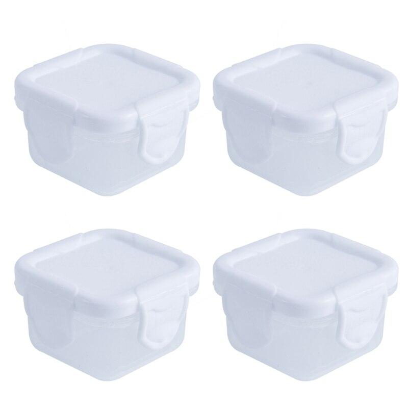 4 Pcs/Set 60ml Baby Milk Powder Food Container Infant Snacks Feeding Storage Portable Food Freezer Fresh Cup H055