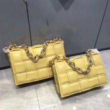 Bolsas de luxo bolsas femininas designer malha real genuíno couro corrente ombro saco do mensageiro tecido bolsas e bolsas
