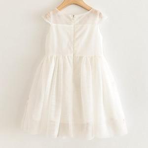 Image 2 - אהבה DD & MM בנות שמלות 2020 ילדים חדשים בגדים מתוק בעלי החיים פלמינגו רקום פאייטים רשת נסיכת שמלת ילדה 3 8 שנים
