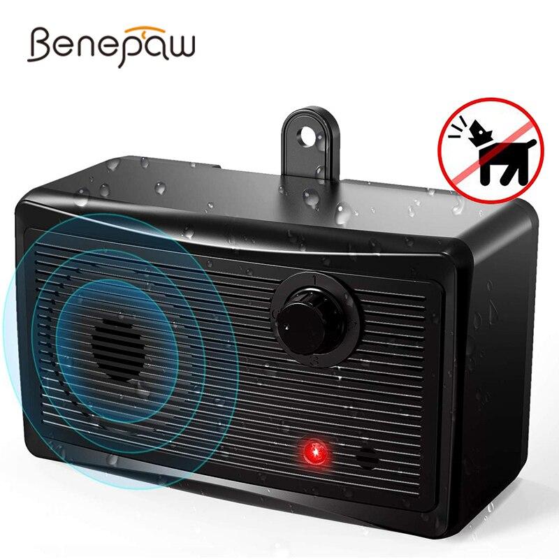 Benepaw Safe Ultrasonic Dog Bark Deterrent Waterproof Effective Anti Barking Device Control Range Up To 15m Pet Training(China)