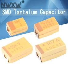 10pcs a b c d chip tantalum capacitors 0.22uf 1uf 4.7uf 10uf 22uf 33uf 100uf 47uf 6.3v 10v 16v 25v 35v 50v 3216 3528 6032 7343