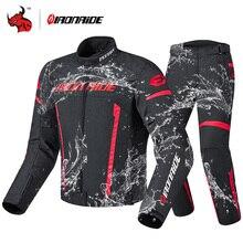 IRONRIDE חורף עמיד למים אופנוע מעיל גברים רכיבה מירוץ Moto מעיל גוף שריון הגנת מוטוקרוס מעיל עם Linner