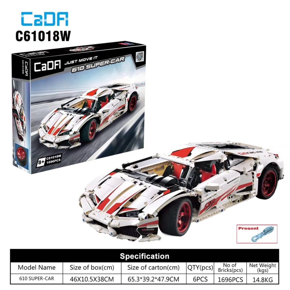 2019-NEW-CADA-C61018-610-Technology-racing-sueper-car-Compatible-with-Iego-Assemble-building-blocks-Model