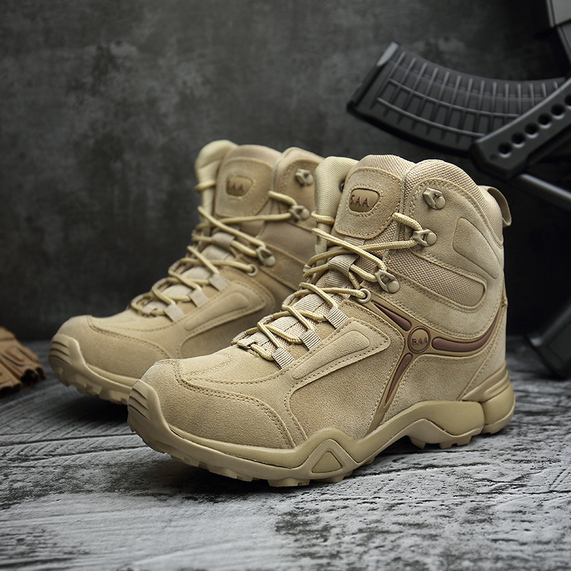 Outdoor Army Tactical Boots Men Trekking Hiking Shoes Waterproof Anti-skid Military Desert Combat Boots Mountain Climbing Shoes