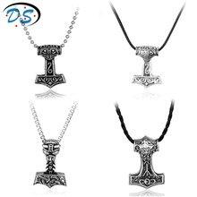 1 PC Viking collier Thor marteau Mjolnir pendentif collier ras du cou pour hommes pendentif collier bijoux bijouterie