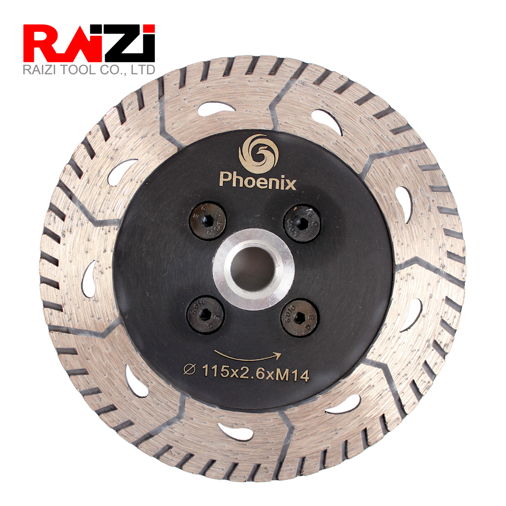 Raizi 1 Pc Diamond Saw Blade For Granite Marble Concrete 75/115/125 Mm M14 Sharpen Diamond Cutting Grinding Disc
