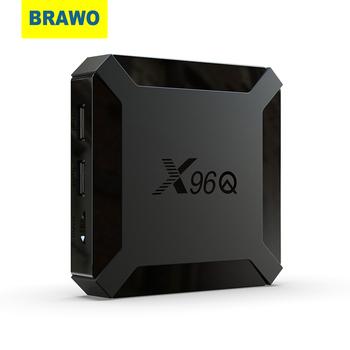 BRAWO TV pudełko z systemem Android 10 X96Q 2 4G Wifi Allwinner H313 czterordzeniowy 1G 8G 2GB 16GB 1080P odtwarzacz multimedialny X96 P 4K inteligentny dekoder tanie i dobre opinie 100 M CN (pochodzenie) 8 GB eMMC 16 GB eMMC HDMI 2 0 1G DDR3 2G DDR3 0 37kg Android 10 0 DC 5 V 2A Wliczone w cenę