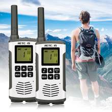 Retevis RT45 PMR Radio Mini PMR Walkie Talkie 2 pcs 0.5W PMR446 PMR 446 FRS Twee-Weg Radio camping/Wandelen/Reizen Walkie-Talkie(China)