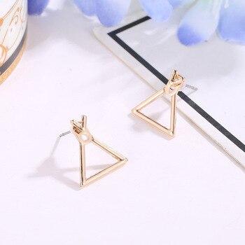 Hot Sale Trendy Cute Nickel Free Earrings Fashion Jewelry 2017 Earrings Square Stud Earrings For Women Brincos Brinco Oorbellen 3