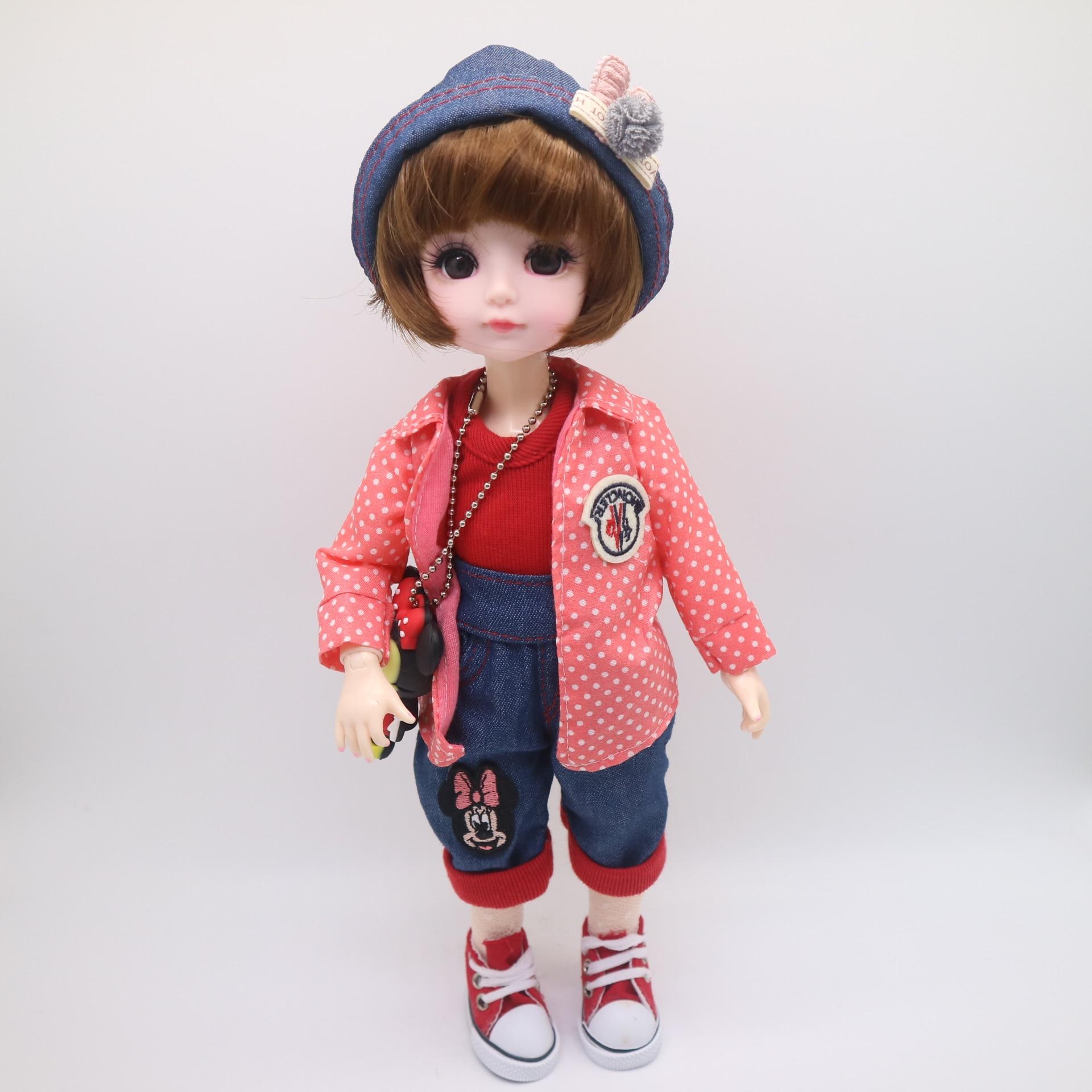 New Christmas girl Dolls BJD Girl dolls 30 CM plastic doll