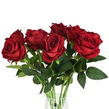 2/3/5 шт одиночные искусственные цветы розы diy Цветочный букет