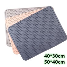 Large Multifuctional Silicone Dry Mats Heat Insulation Pot Holder Dish Cups Draining Pad Table Placemat Tray Kitchen Accessories