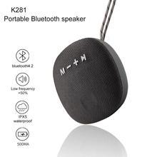 K281 Outdoor Portable Bluetooth Speaker Mini Wireless Colunm Waterproof Sound system MP3 Music Loudspeaker FM Radio With TF USB цена