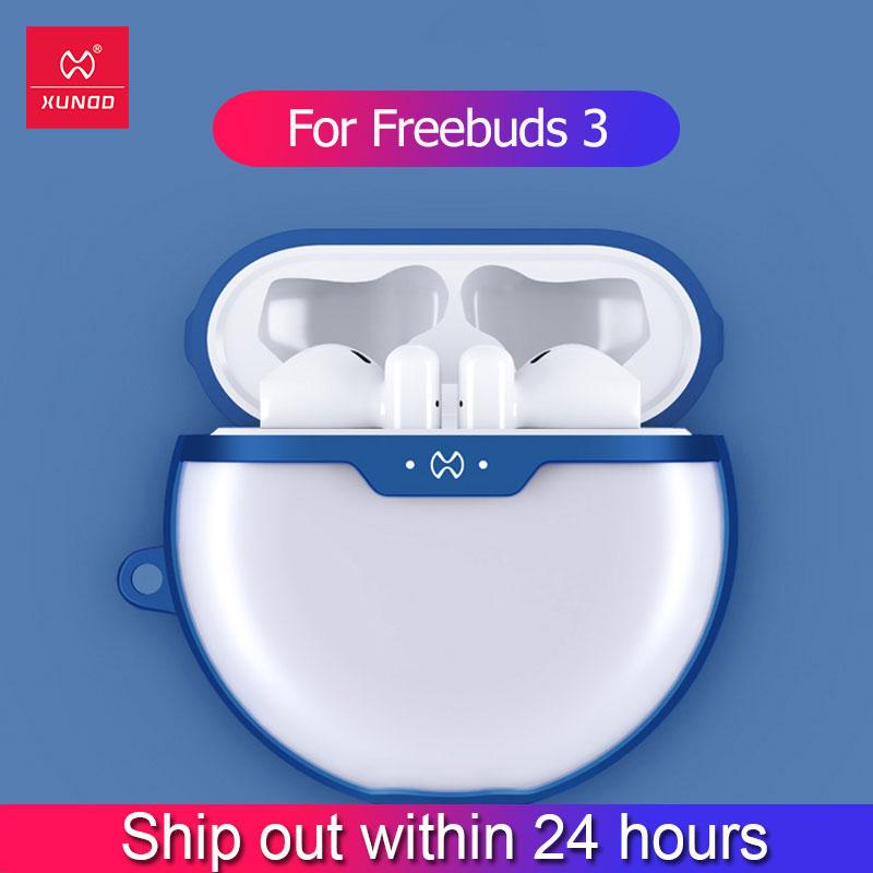 Xundd Earphone Case For Huawei Freebuds 3 Case Shookproof Airbag Bumper Cover Hook Transparent For Huawei Freebuds 2 Pro Case