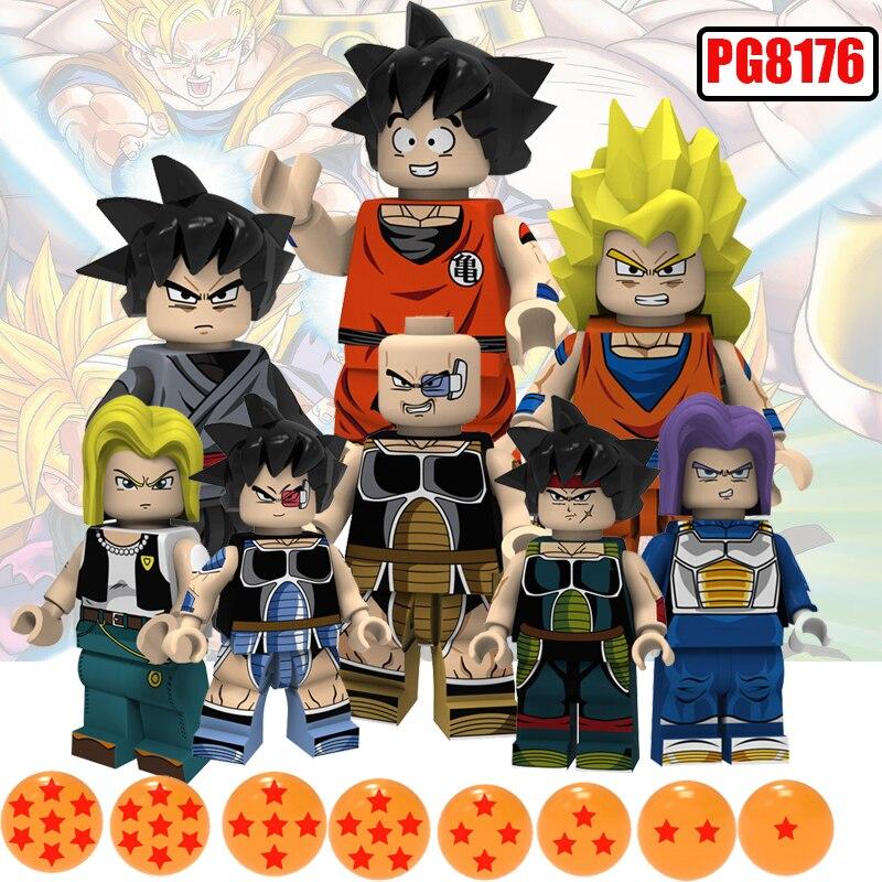LegoingLys Toy Dragon Ball Z Action Figures Future Trunks Son Gouku Android 18 Vegrta Building Blocks Doll Brick Kids Toy PG8176
