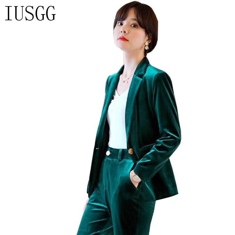 Office Work Velvet Blazers British Luxury Women Double Breasted Velvet Blazer Suit Green Blue Velvet Blazer Single Button Suit