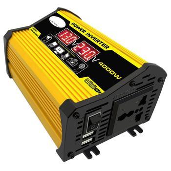 цена на Peak 4000W 12V to 220V/110V LED Display Car Power Inverter Converter Adapter Dual USB Voltage Transformer Modified Sine Wave