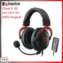 キングストンhyperxクラウドiiヘッドセットハイファイ7.1サラウンドサウンドとマイク3.5ミリメートルコンピュータの携帯電話イヤホン