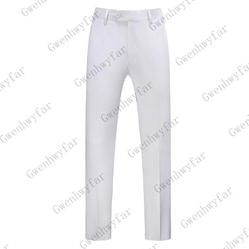 Gwenhwayfar, мужские синие клетчатые брюки, деловой костюм, брюки, деловые повседневные облегающие брюки, Классический Клетчатый костюм, брюки для свадьбы - Цвет: white