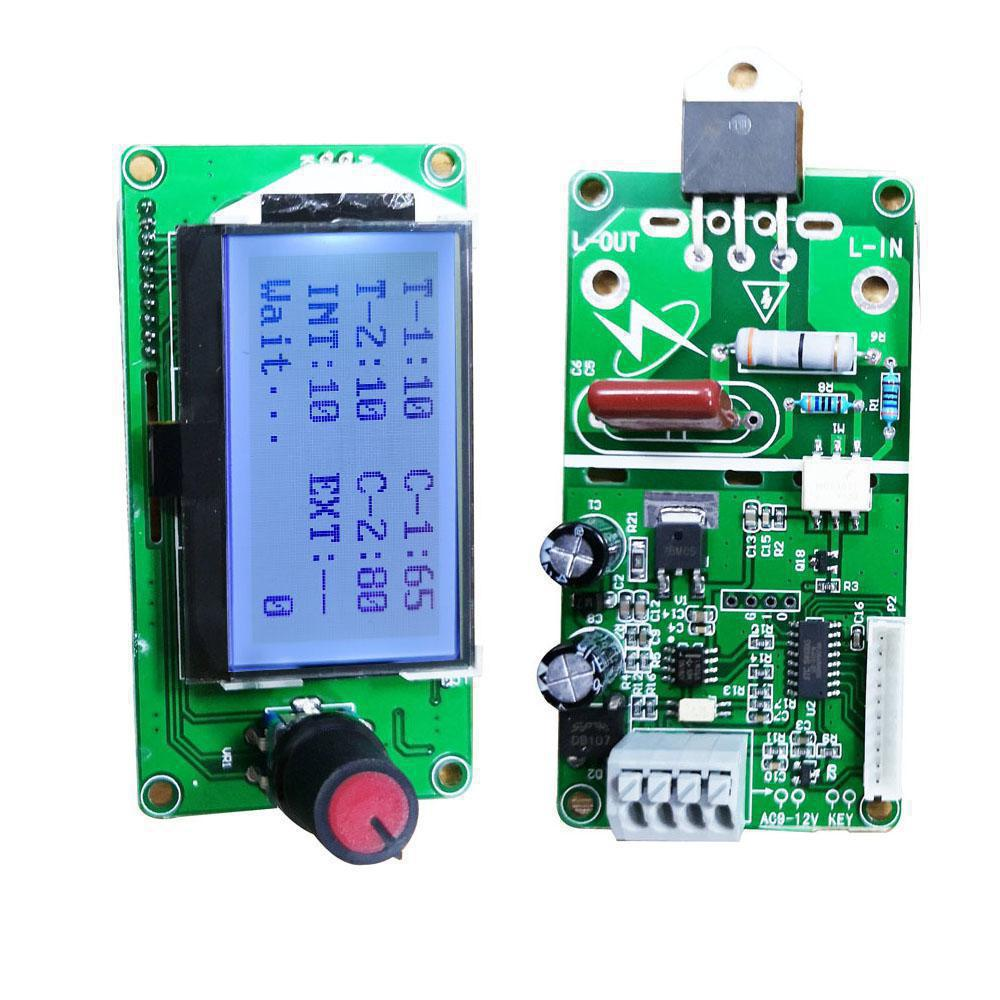 100A Digital LCD Double Pulse Encoder Spot Welder Machine Time Control Module