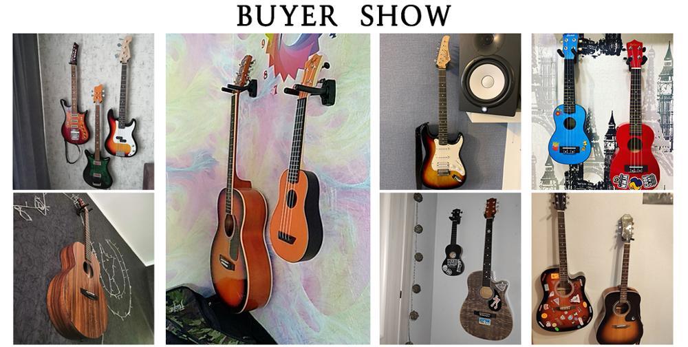 2 կտոր կիթառի ջութակի կախիչ կանգնած - Երաժշտական գործիքներ - Լուսանկար 6