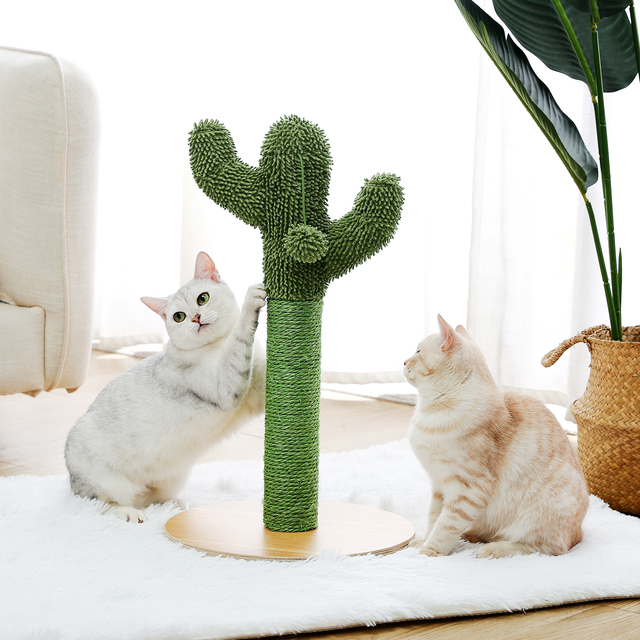 2 Size Cactus Style Cat Tree House Climbing Stratching Posts for Cat Kitten Funny Jumping Toy Cat House когтеточка rascador gato 2