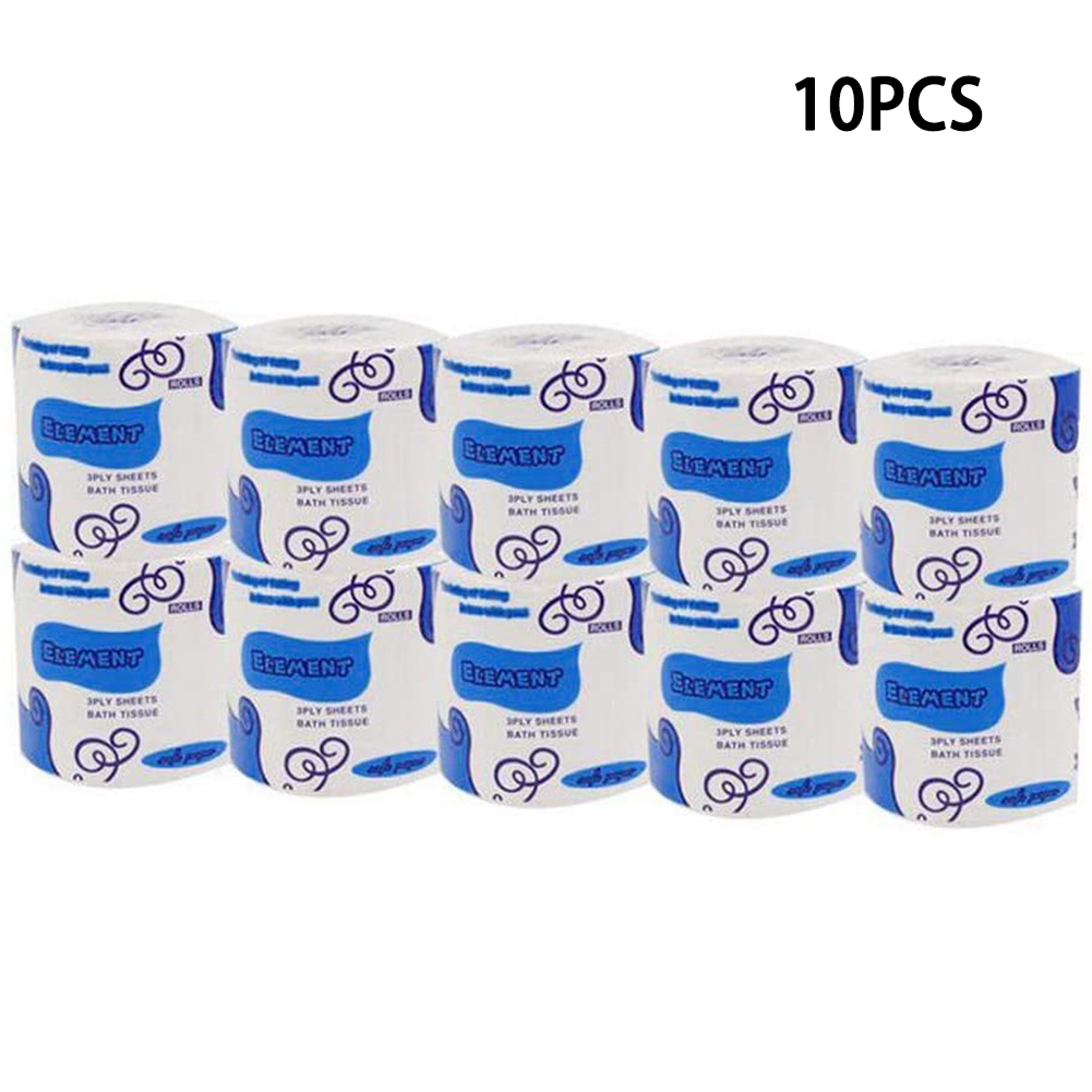 10PCS Bedroom Kitchen Household Tissue Cleaning Paper Mixed Pulp Toilet Paper For Home Toliet Use Kitchen Dishes Cleaning M21