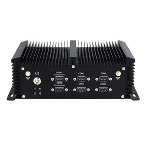 Image 2 - Sem ventilador intel core i5 4200u mini pc 6 * rs232/422/485 4 * usb 3.0 4 * usb2.0 2 * lan hdmi vga wifi 4g lte industrial incorporado computador