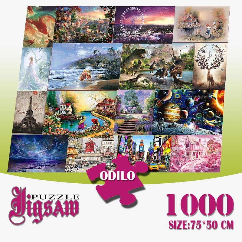 75 X 50CM DIY jigsaw Puzzle 1000 Pieces Puzzles Decompression Toys Decoration UK