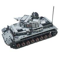 WW2 Military Serie Deutschland IV Tank Bausteine Military Tank Armee Soldaten Waffe Teile Ziegel Spielzeug X700