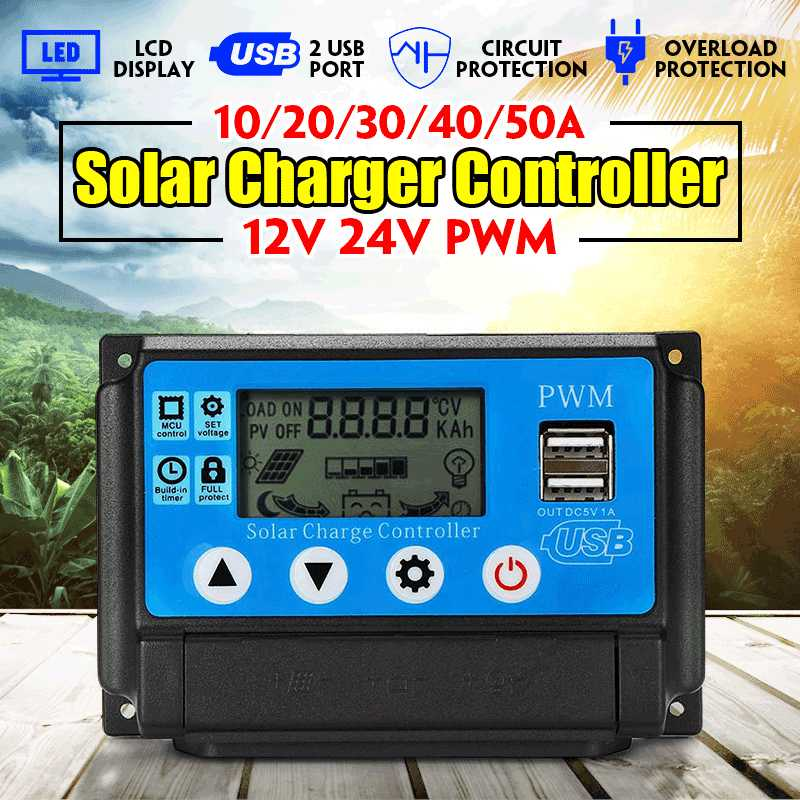 PWM 10A/20A/30A/70A/50A Solar Charge Controller Dual USB LCD Display 12V 24V Auto Solar Cell Panel Auto Charger Regulator