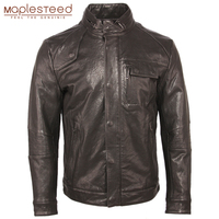 100% Tanned Sheepskin Men Leather Jacket Soft Slim Fit Men's Genuine Leather Jackets Boy Skin Clothing Spring Autumn M458
