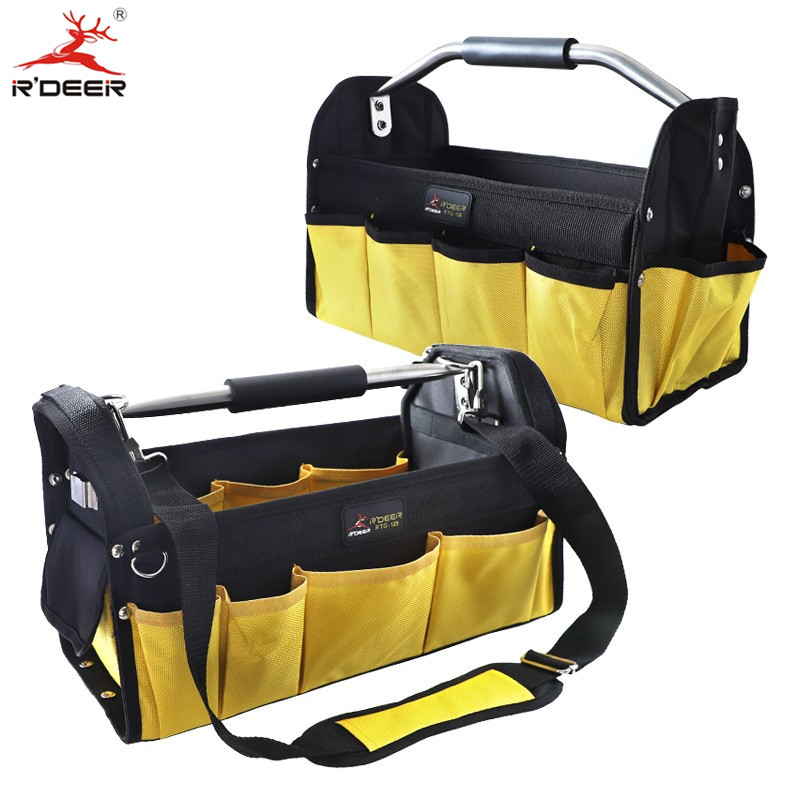 16'' Tool Bag Thicken Waterproof Oxford Bag Large Capacity Tool Organizer With Center Tray Storage Bag Toolkit