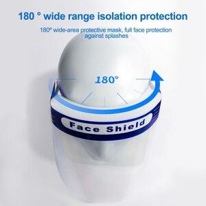 Image 4 - 10Pcs בטיחות מגן פנים להחלפה מלא מגן שקוף מגן הגנה אנטי להתיז בטיחות פנים כיסוי עבור dropshipping