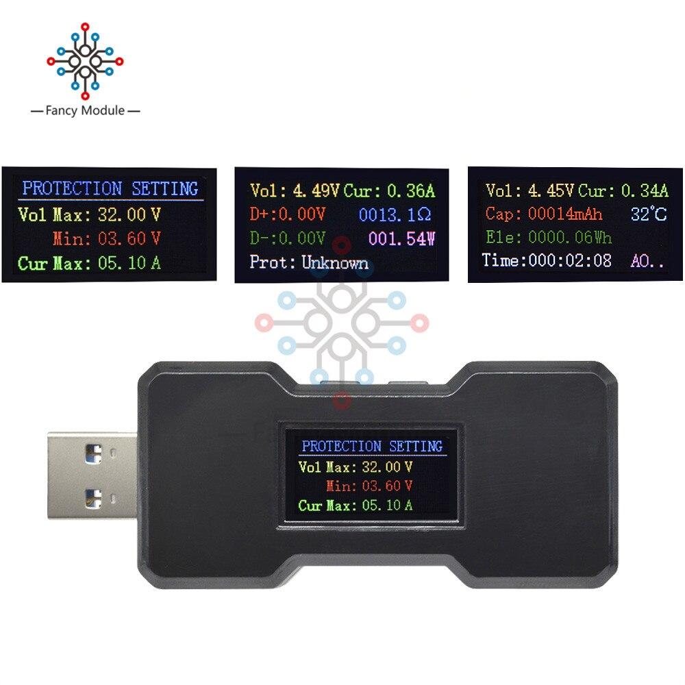 FNB18 QC3.0QC2.0 Quick Charger Multi-functional Detector USB 3.0 Voltmeter Ammeter Battery Capacitance Tester Watt Meter Monitor