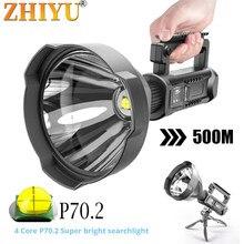 Lanterna de lanterna led poderosa xhp70.2 tocha portátil usb recarregável holofote à prova dwaterproof água luz de pesca lanterna,