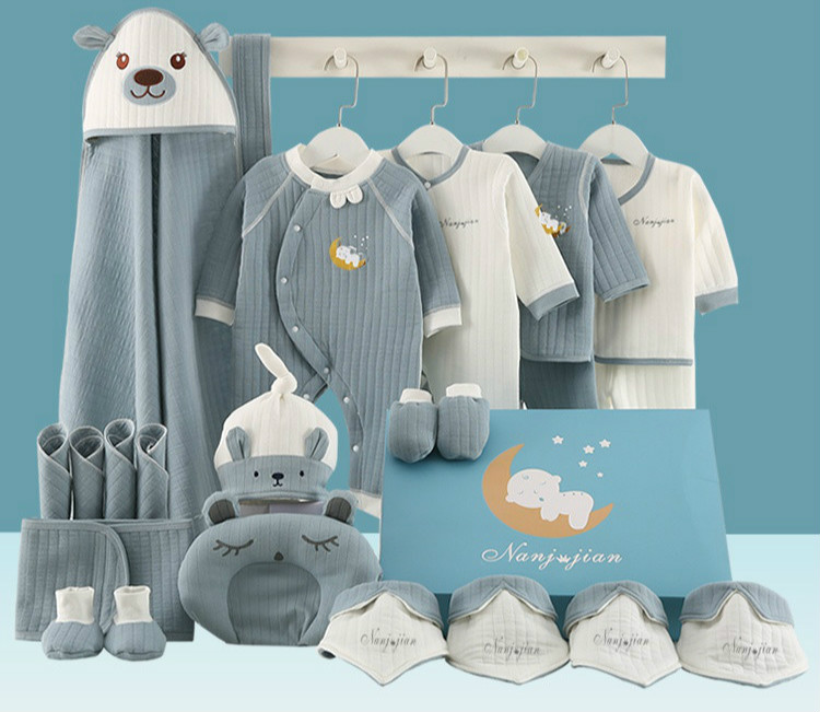 Clothes Baby Supplies Newborns Gift Set Spring And Autumn Pure Cotton For 'S First Month Encyclopaedia Primary