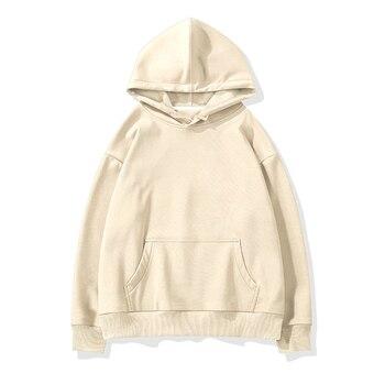 Aachoae women unisex couple hoodies sweatshirt fleece 100% cotton tracksuit sweatshirt 2020 winter casual loose jumper plus size