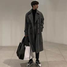 Мужское шерстяное пальто Новинка весна зима 2021 мужское длинное