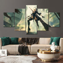 Без рамки видео игра постер nier automata меч 2b Настенная картина