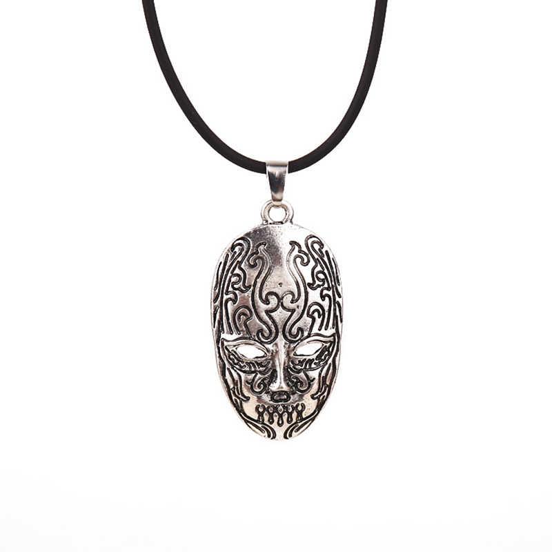 Hp potter jóias máscara facial do vintage colar pingentes de prata antigo colar para presente jóias