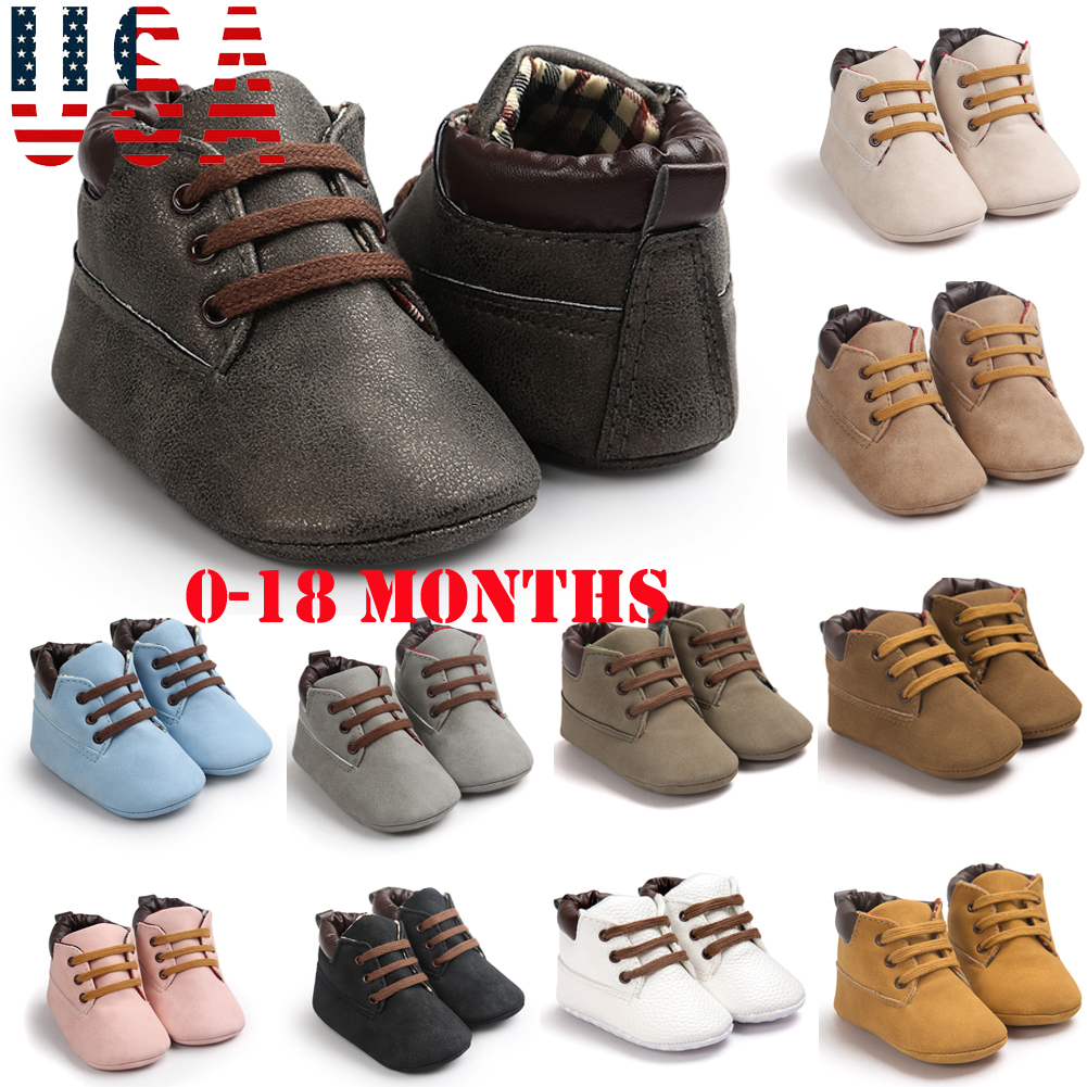 0-18M Baby Boots Boy Girl Anti-slip Soft Sole Crib Shoes Newborn Boy Baby Winter Shoes Sneakers Prewalkers