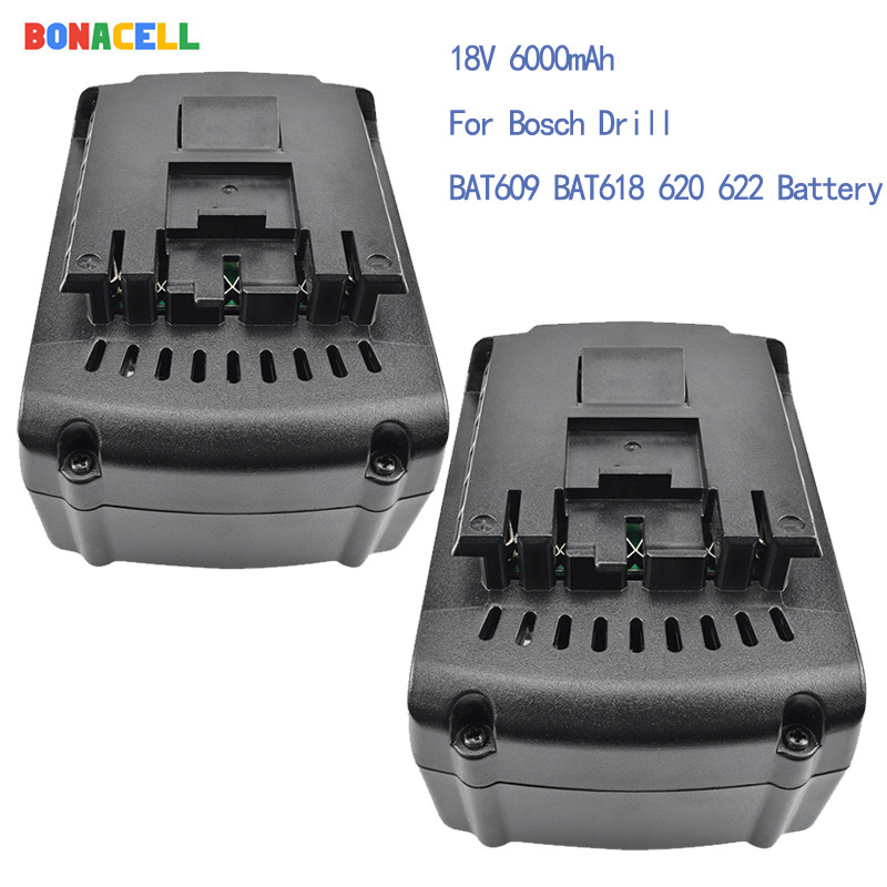 Bonacell For <font><b>Bosch</b></font> <font><b>18V</b></font> 6000mAh Power Tools <font><b>Battery</b></font> Rechargeable <font><b>Batteries</b></font> Cordless for <font><b>Bosch</b></font> Drill BAT609 BAT618 3601H61S10 image