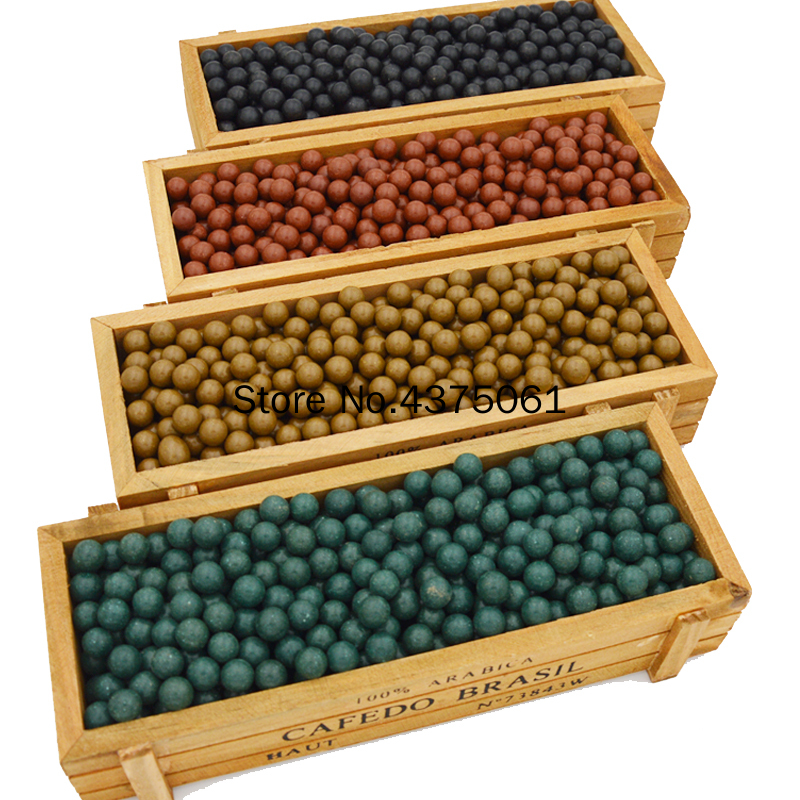 100PCS/lot Hunting Slingshot Ammunition Ball Slingshot Beads Bearing Of Mud Beads Ammo Solid Drawing-board Ball Clay Mud Ball